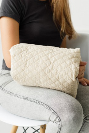 Подушка для кормления на руку Magbaby бежевый горох