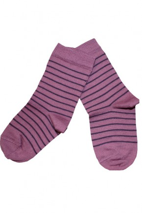 Термоноски детские Groedo 14096 розовые в черную полоску