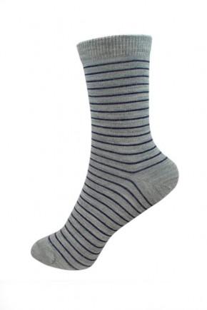 Термоноски детские Groedo 14096 серый в синюю полоску