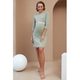 Нічна сорочка для вагітних і годуючих Dianora 2176 1557 Фісташкова