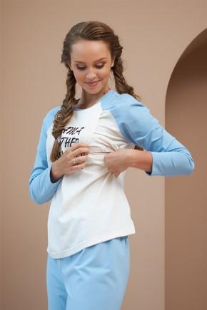 Кофта для беременных и кормящих Dianora 2177 1558 голубая