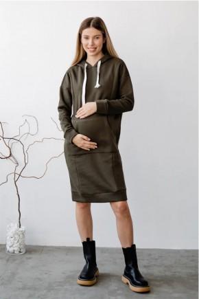 Платье для беременных и кормящих To be 4284115 хаки