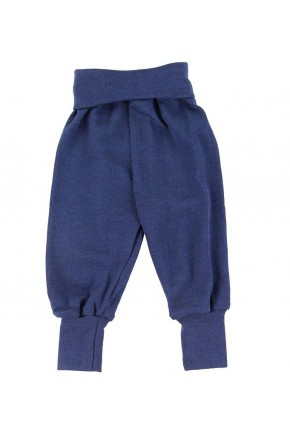 термо штаны Engel из мериносовой шерсти голубой меланж