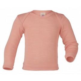 Термофутболка Engel с длинным рукавом шерсть/шелк цвет розово-бежевый