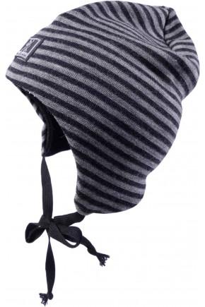 Шапка-шолом дитяча шерсть 70% шелк 30% Pickapooh Moin Radler сірий-антрацит