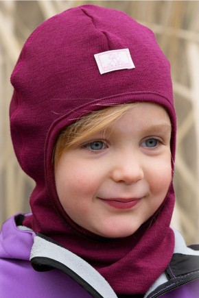 Шапка-шолом дитяча шерсть 70% шелк 30% Pickapooh Bosse натур-меланж