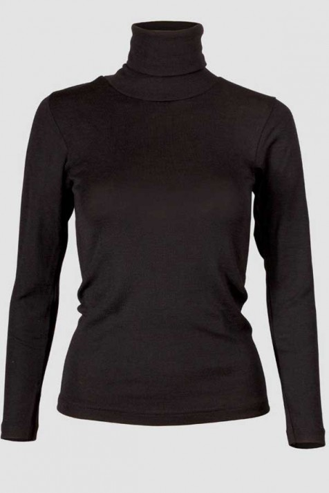 Водолазка женская Engel из шерсти и шёлка черная