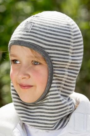 Шапка-шлем детская шерсть 70% шелк 30% Pickapooh Bosse беж-меланж