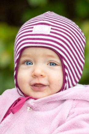 Шапка-шолом дитяча шерсть 70% шелк 30% Pickapooh Radler орхидея-натур