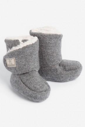 Пинетки-сапожки детские шерсть 100% Pickapooh Trotter Walk серые