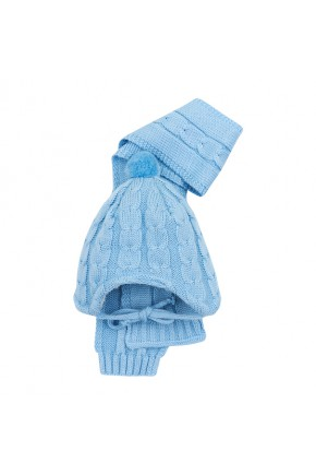 Шапка+шарф Mari-Knit серая