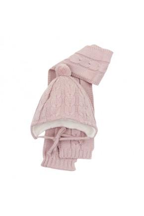 Шапка и шарф Mari-Knit голубая