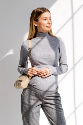 Джемпер для беременных и кормящих To be 4279 серый