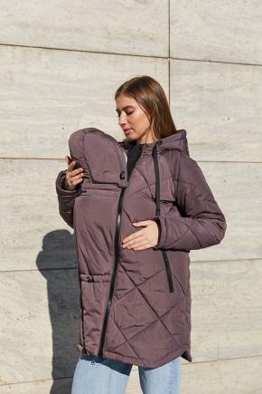 Зимняя слингокуртка 3 в 1 для беременных Lullababe Congo коричневый