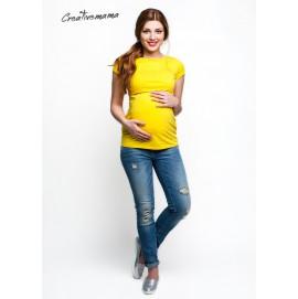 Футболка для вагітних і годуючих, Urban (жовтий бавовна)