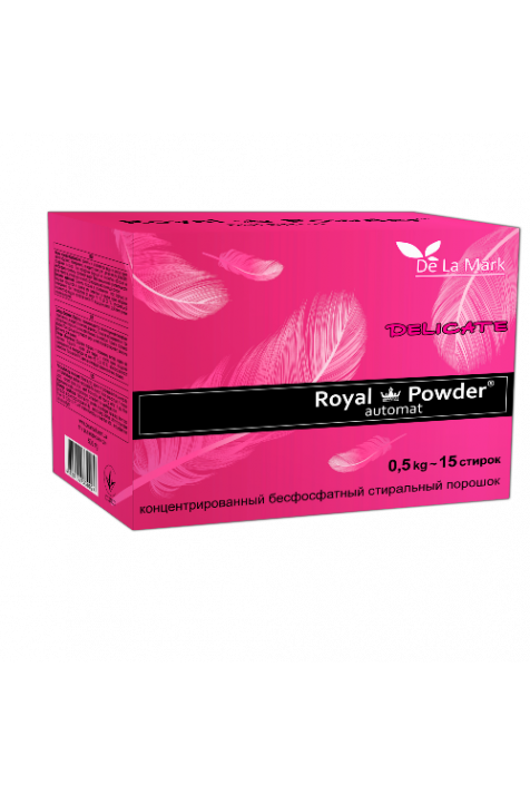 Концентрированный бесфосфатный стиральный порошок  «Royal Powder Delicate» (0,5кг)