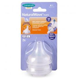 Соска для естественного кормления Natural Wave (S, медленный поток, 2 шт.)