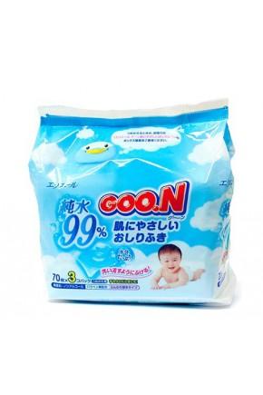 Салфетки влажные для младенцев Goo.N (70шт*3)